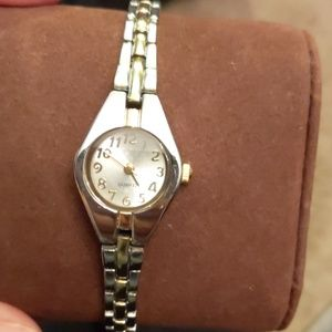 Quartz Silver Gold Watch